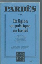 65495 - Pardès : (11-1990) : Religion et politique en Israël