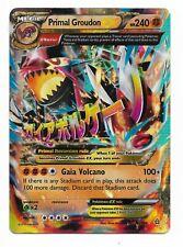 1 Carte Pokemon PRIMAL GROUDON EX  Full art HP240 (86/160)  Anglaise Official