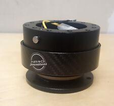 SALE NRG Steering Wheel Quick Release Kit Gen 2.0 BLACK Body & CARBON FIBER Ring