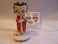 Wade Betty Boop I Don't Do Mornings Red Gown SILVER Curlers And Mug Solid Le 20