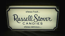 Russell Stover Candies Lighted Sign Vintage Advertising UNUSED with Box No. 915