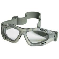 Army Commando Patrol Air Pro Tactical Goggles Clear Lens ACU Digital Camo Frame