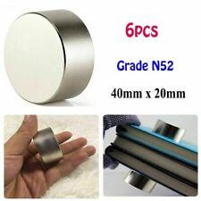 6pcs New N52 40mm20mm Large Neodymium Rare Earth Magnet Big Super Strong Huge