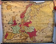 1851 Pelton's Political and Physical Map Europe Published by Sower & Barnes