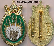 13° Dragons Parachutiste,relief,aigle sur blanc,translucide doré,Bous 983(2801)