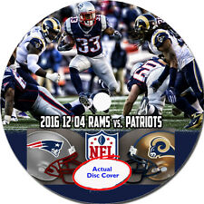 NFL 2016 12 04 Week 13 Los Angeles Rams vs. New England Patriots DVD