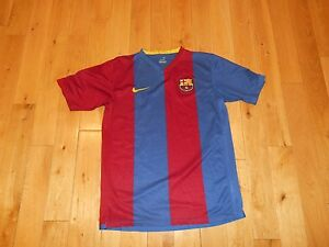 Vintage NIKE Sphere Dry FC BARCELONA Home Jersey Kit Youth XL Soccer FCB LFP