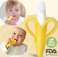 (2 pack) NEW Banana Toothbrush Baby Teether, Silicone BPA Free
