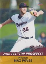 2018 Pacific Coast League Top Prospects PCL Max Povse RC Rookie Mariners