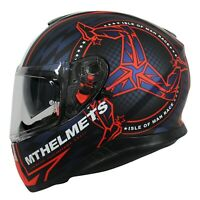 MT Thunder 3 ISLE OF MAN TT RACES Motorcycle Crash Helmet -RED + Pinlock