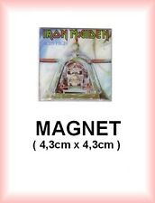 IRON MAIDEN N° 1 magnet / aimant 4,3 cm x 4,3 cm reproduction pochette de disque