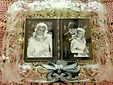 Mikasa Vintage Memories Crystal Duet Picture Frame Germany Nwt