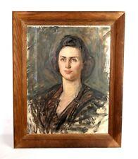Antique Oil Painting Portrait Beautiful Woman Signed Listed Artist John Sharman