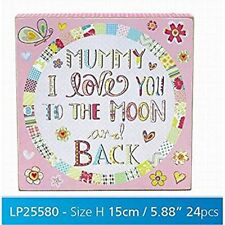 Mummy I love you to the moon & Back Wooden Hanging sign Christmas Birthday