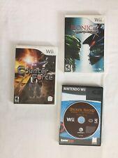 Nintendo Wii Games  Pack Of 3 Counter Force Bionicle Broken Sword
