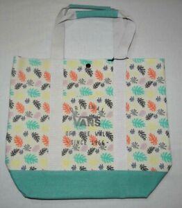 Vans Sophia Tote 17L Washed Cotton Tote Bag Beach Travel Pack Bag $45