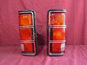 NOS OEM Dodge Pickup Ram Charger Tail Light Brake Lamp BLACK 1981 - 87 PAIR