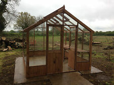 10 x 8 Greenhouse Pressure Treated Toughened Glass Wood Wooden