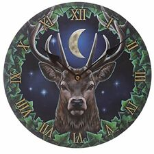 Lisa Parker Stag at Midnight Clock. Novelty Wall clock. Magical mythical New