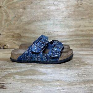 Papillio Birkenstock 265 Womens Sandals Size 10 / EU 41 Blue Double Buckle Strap