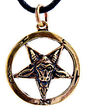no. 29 Pentagram Pendant Bronze Baphomet Pentagram Satan Devil Black Magic