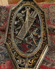 Vintage Homco Antique Bronze Finish Gothic/Medieval Renaissance Knight Plague