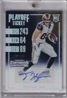 Tyler Higbee 2016 Contenders Playoff Ticket Holo Foil Rc Auto Sp #ed 105/199