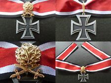 1939 - 1957 GERMAN KNIGHT'S CROSS W/ GOLD OAK LEAVES | REPLICA | ARMY | WWII