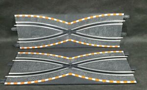 """2x TRACK Criss Cross SCX COMPACT 13.5"""" (342mm) CROSSOVER SECTION  1/43rd Scale"""