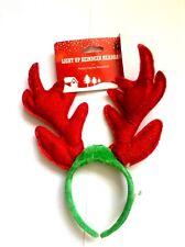Christmas Accessories Reindeer Headband Green & Red