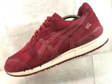 Asics Gel Classic Maroon Suede Running Walking Shoes Men's 10