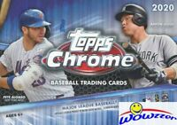 2020 Topps Chrome Baseball EXCLUSIVE Factory Sealed Blaster Box-SEPIA REFRACTORS