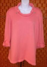 Christopher & Banks Woman's XL  Peachy Coral Cotton Knit Tunic Spring Sweater