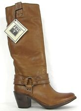 FRYE BOOTS Carmen Harness Tall Tan Leather Boots 77848 SZ 10 $418