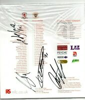Multi Signed Middlesbrough V Blackpool Programme Plus Ticket