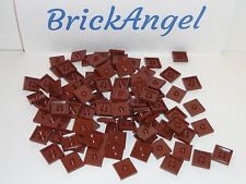 NEW LEGO Reddish Brown 2X2 Plates with One Stud Jumper Lot of 100 Pieces