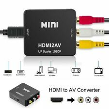 1080P Hdmi to Av Cvbs 3 Rca Video Converter Cable Adapter For Pc Laptop Ps3 Xbox