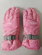 Marsnow Unisex Waterproof Winter Thickening Warm Skiing Gloves Large - Pink