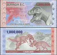 Béringie 1000000 Dinars. Polymère NEUF 2012 Billet de banque Cat# P.NL