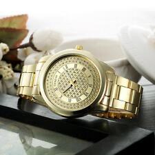 Stainless Steel Analog Quartz Bracelet Luxury Women Wrist Watch Watches Geneva Gold