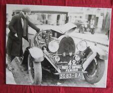 photo BUGATTI Type 40 ou 43  au Paris-St Raphael Feminin   1932 ?  reprint