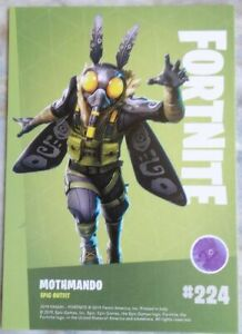 Trading Cards FORTNITE Serie 1 : MOTHMANDO # 224, Epic Outfit