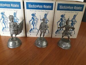 Pewter soldiers x 3
