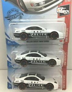 Hot Wheels * Lot of 3* Nissan 300ZX Twin Turbo* Police Vehicle* 1:64
