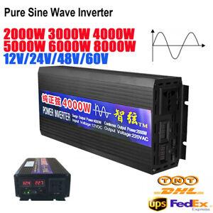 2000W - 8000W Peak DC12V 24V 48V 60Vto AC 220V Pure Sine Wave Power Inverter Car