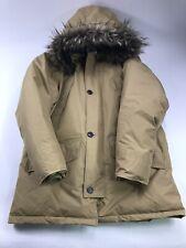 Vtg Eddie Bauer Down Full Length Coat Jacket Parka Hood Mens Large fur heavy