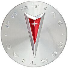 1 Genuine OEM Pontiac Logo Wheel Rim Center Caps Hub Brushed Polished 2.25 In