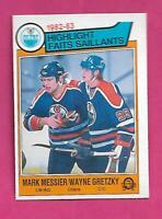 1983-84 OPC  # 23 OILERS WAYNE GRETZKY / MESSIER EX-MT CARD (INV# D6297)