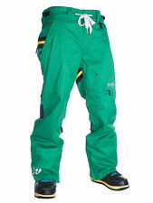 Brand New Technine Rugby Snowboard Pants Green Size - M, L, or XL
