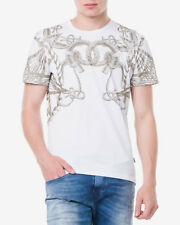 Just Cavalli Mens White Knot Graphic Tee T-Shirt XS